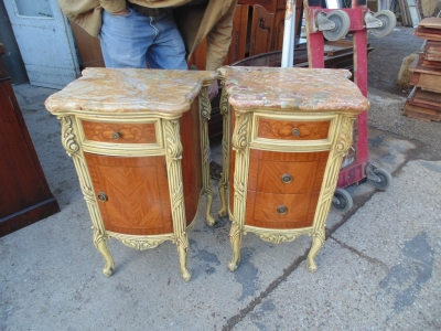 14B04014 AND 15 PAIR OF MARBLE TOP LOUIS XV LAMP TABLES (1)