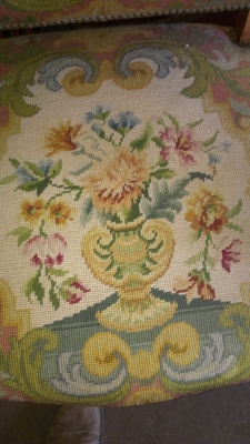 14E NEEDLEPOINT CHAIR