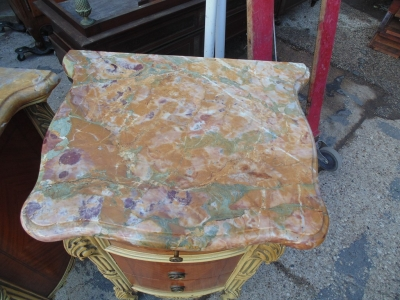 14B04014 AND 15 PAIR OF MARBLE TOP LOUIS XV LAMP TABLES (3)