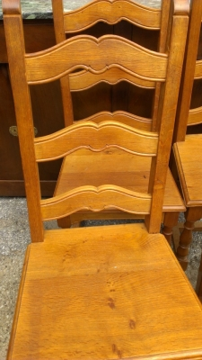 14E SET OF RUSTIC CHAIRS FRENCH