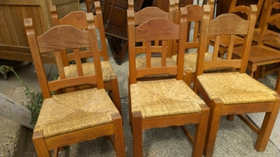 14E RUSTIC CHAIRS SET