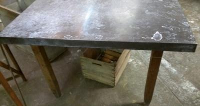 203 ZINC TOP TABLE