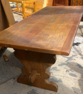 14E TRESTLE TABLE OAK