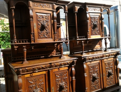 14E PAIR MATCHING HUNT CABINETS
