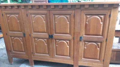 14E RUSTIC FOUR DOOR CABINET