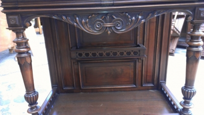 14E INCREDIBLE CARVED WALNUT CABINET