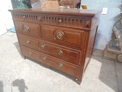 14B15002 EARLY OAK DIRECTOIRE CHEST (3)