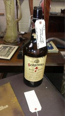 12 large  seagrams old bottle