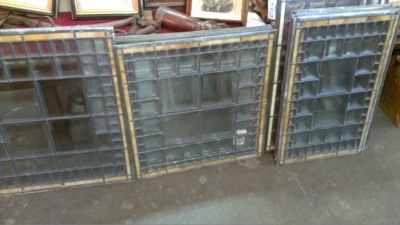 14e stained glass windows with bevels sold