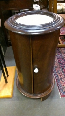 14e cylinder stand with marble 19th century