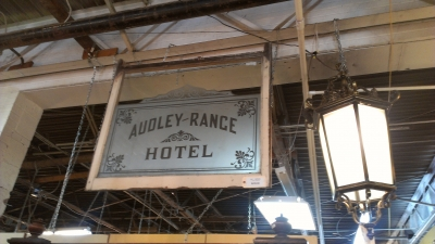 14E HOTEL ETCHED GLASS SIGN LARGE