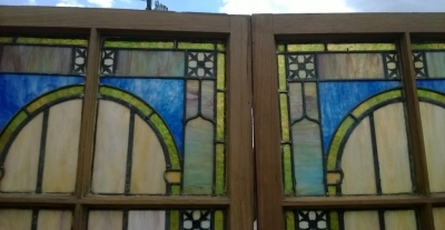 14F06002 AND 03 TALL STAINED SLAG GLASS WINDOWS (2).jpg