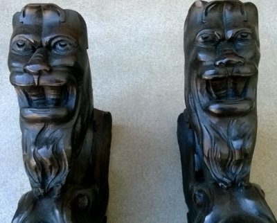 14F06004 PAIR OF CARVED GRIFFIN SHELF SUPPORTS  (2).jpg