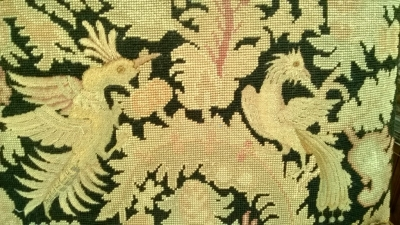 14F06014 FRENCH HEAVILY CARVED WITH TAPESTRY ARM CHAIR (8).jpg