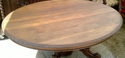 14F06018 LARGE CARVED PEDESTAL BASE OVAL TABLE  (7).jpg