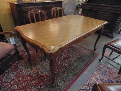 14B15012 LIGHT COLORED LOUIS XV DRAWLEAF TABLE  (2)