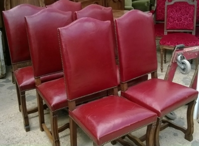 SOLD!  14F06024 SET OF 6 LOUIS XIV OAK AND LEATHER CHAIRS  (2).jpg