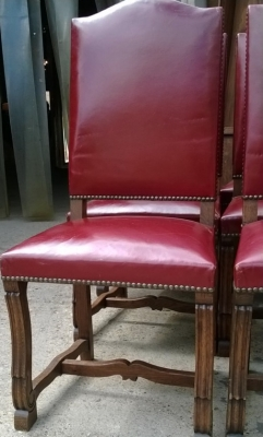 14F06024 SET OF 6 LOUIS XIV OAK AND LEATHER CHAIRS  (5).jpg
