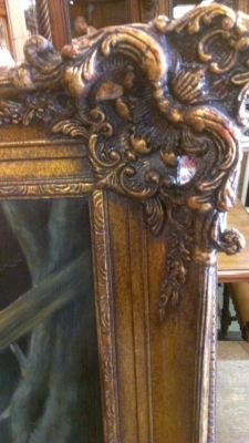 FRAME DETAIL GEORGE WASHINGTON OIL PAINTING