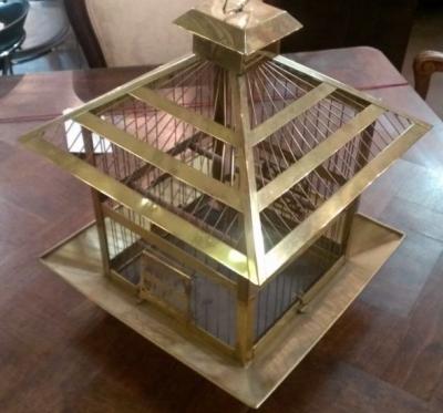 36 BRASS BIRD CAGE
