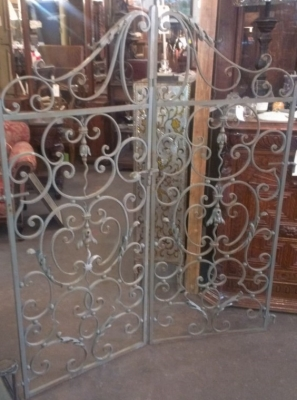 14F09579A PAIR IRON GARDEN GATES