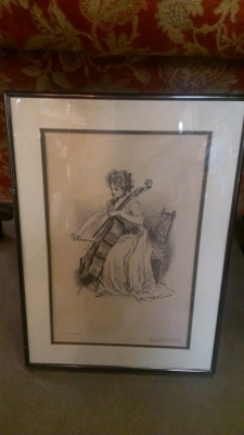14F09502 CELLIST ENGRAVING