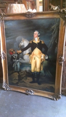 14F09575 GEORGE WASHINGTON LARGE OIL PAINTING