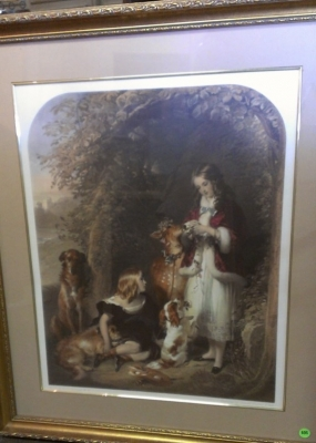 14F16102 GIRLS AND DOGS PRINT