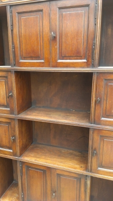 14F164 OAK BOOKCASE CABINET DETAIL