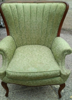 14F23602 GREEN 40\'\'S CHAIR