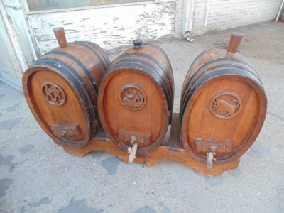 SOLD   14B15025 SET OF BARRELS FROM A WINE CELLAR (7)