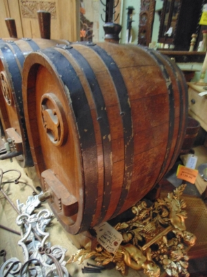 SOLD  14B15025 SET OF BARRELS FROM A WINE CELLAR (12)