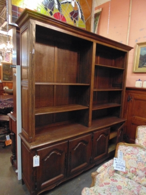 14B15030 FRENCH 2 PIECE OPEN BOOKCASE (1)