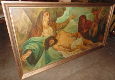 13F17150 LARGE PAINTING OF JESUS REMOVED FROM THE CROSS (3).JPG