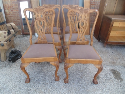 14B15042 SET OF 6 CHIPPENDALE CHAIRS  (1)