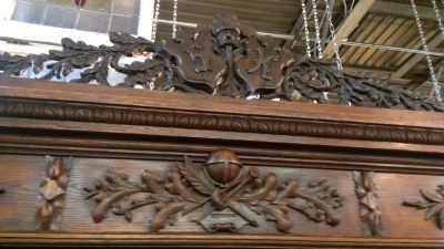 14G10 THREE DOOR CARVED BOOKCASE TURN OF THE CENTURY (7).jpg