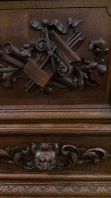14G10 THREE DOOR CARVED BOOKCASE TURN OF THE CENTURY (5).jpg
