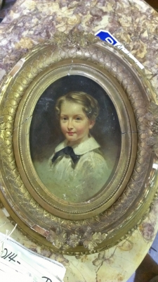 36 SMALL FRAME WITH PRINT OF BOY