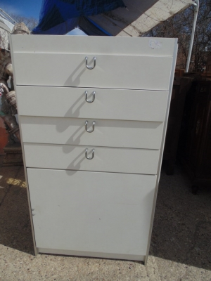 14B15050 TALL WHITE MODERN CHEST OF DRAWERS (1)