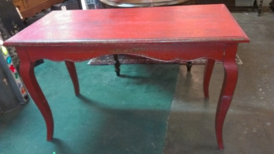 36 RED TABLE WITH DESK TOP