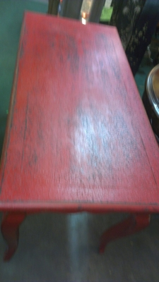 36 RED TABLE TOP WITH DESK SECTION