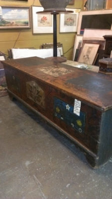 36 LARGE EASTERN EUROPEAN COFFER OR TRUNK