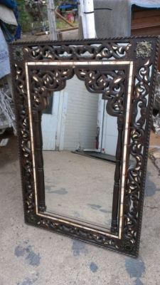 14G28 PAIR MORROCAN STYLE MIRRORS
