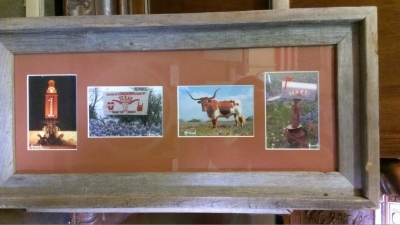 14G21 COW PHOTO FRAMED