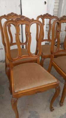 14G27 SET OF 6 COUNTRY FRENCH CHAIRS