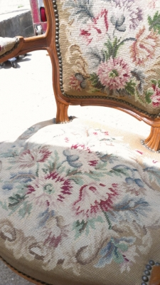 14G27 NEEDLEPOINT CHAIR