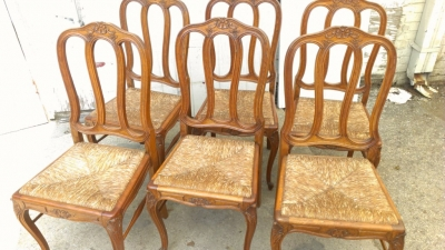 14G27 COUNTRY FRENCH CHAIR SET OF 6