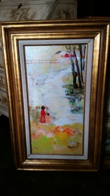 14G28560 VERTICAL OIL PAINTING