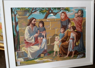14G28569 PAINT BY NUMBERS JESUS AND THE CHILDREN