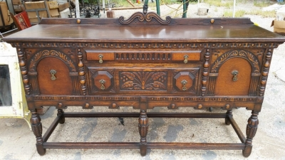14G28640 OAK AMERICAN CARVED SIDEBOARD